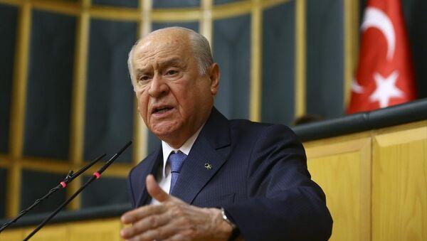 MHP Genel Başkanı Devlet Bahçeli, partisinin TBMM Grup Toplantısına katılarak konuşma yaptı. - Sputnik Türkiye