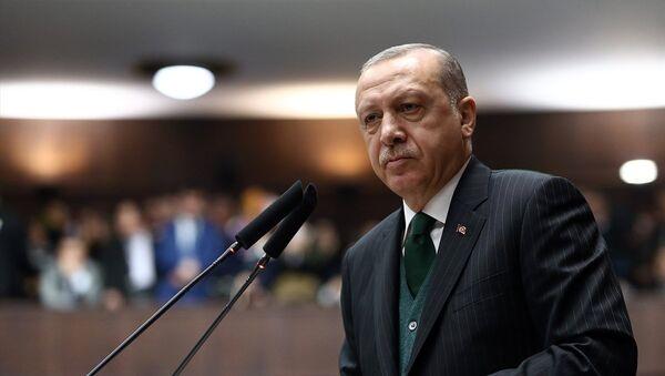 Cumhurbaşkanı ve AK Parti Genel Başkanı Recep Tayyip Erdoğan, partisinin TBMM Grup Toplantısı'na katılarak konuşma yaptı. - Sputnik Türkiye