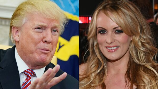 ABD'li porno film oyuncusu Stormy Daniels- ABD Başkanı Donald Trump - Sputnik Türkiye