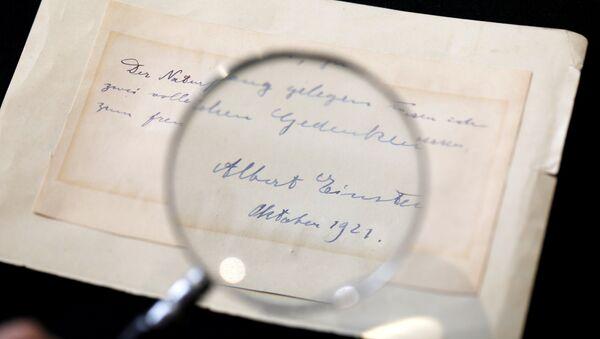 Einstein'in 22 yaşındaki Elisabetta Piccini'ye yazdığı not - Sputnik Türkiye