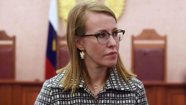 Rusya devlet başkanlığı seçimlerinde 'herkese karşı' aday Kseniya Sobçak - Sputnik Türkiye