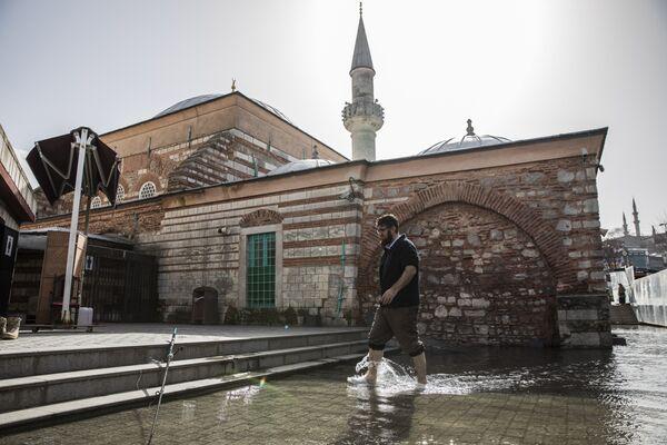 Tarihi cami 1 haftadır su altında: Bahçesini deniz anaları bastı - Sputnik Türkiye