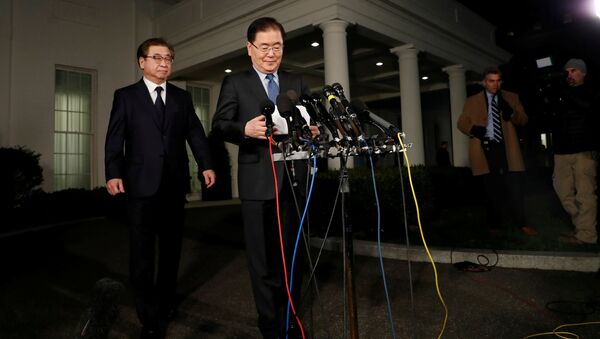 Güney Kore Devlet Başkanı Moon Jae-in'in Ulusal Güvenlik Danışmanı Chung Eui-yong - Sputnik Türkiye