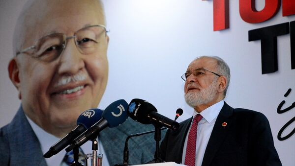 Saadet Partisi (SP) Genel Başkanı Temel Karamollaoğlu, Karaman'daki partisinin kongresine katılarak konuşma yaptı. - Sputnik Türkiye