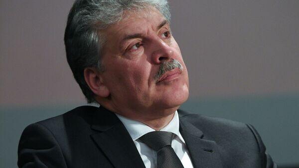 Rusya devlet başkanı adayı Pavel Grudinin - Sputnik Türkiye