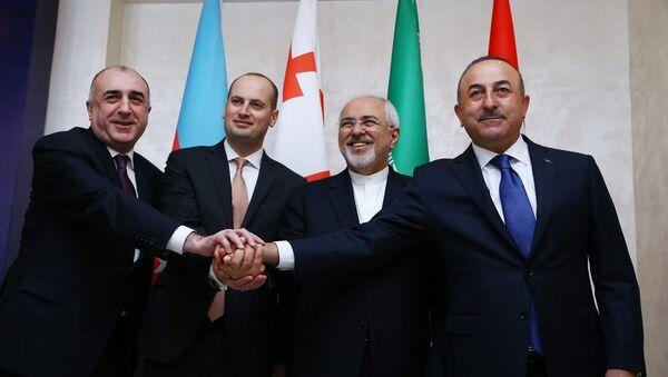 Türkiye-Azerbaycan-Gürcistan-İran Dışişleri Bakanları Dörtlü Toplantısı - Sputnik Türkiye