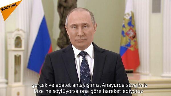 Putin, başkanlık seçimleri öncesi Rus halkına seslendi - Sputnik Türkiye