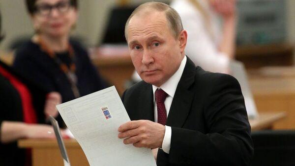 Putin, 2018 seçimleri - Sputnik Türkiye