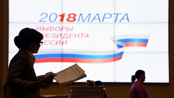 Signatures in support of Vladimir Putin as a candidate in the 2018 presidential election are submitted to Central Election Commission of Russian Federation - Sputnik Türkiye