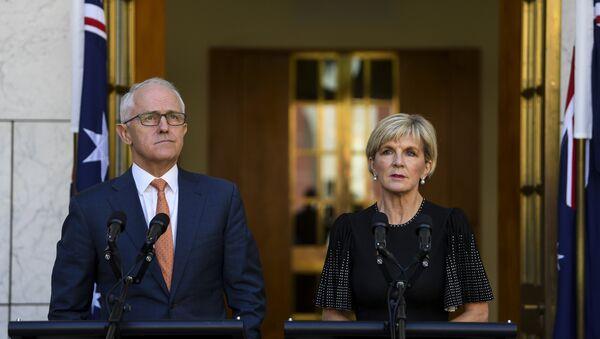 Avustralya Başbakanı Malcolm Turnbull- Avustralya Dışişleri Bakanı Julie Bishop - Sputnik Türkiye