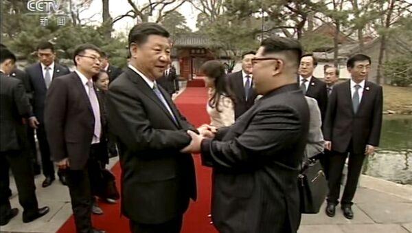 Kuzey Kore lideri Kim'in  Çin ziyareti - Sputnik Türkiye