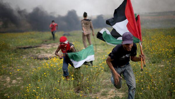Gazze İsrail sınırı protesto çatışma - Sputnik Türkiye