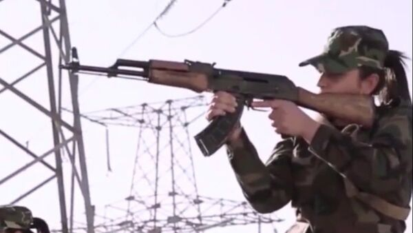 Doğu Guta'yı koruyan Suriyeli kadın savaşçıları - Sputnik Türkiye