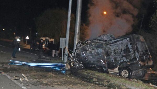 Iğdır'da göçmenleri taşıyan minibüs kaza yaptı - Sputnik Türkiye