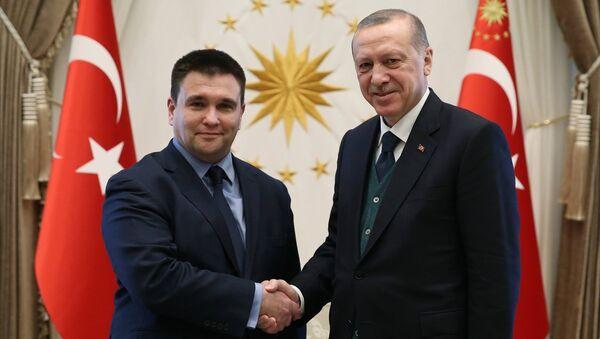 Ukrayna Dışişleri Bakanı Pavel Klimkin ile Cumhurbaşkanı Recep Tayyip Erdoğan - Sputnik Türkiye