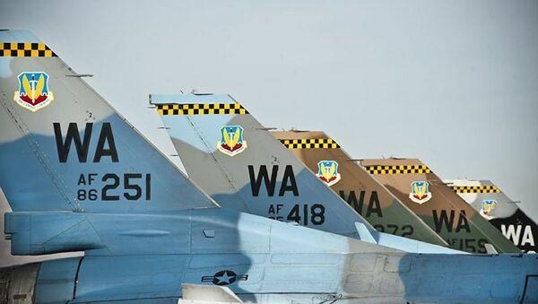 'Saldırganlar' filosundaki F-16C avcı uçakları - Sputnik Türkiye