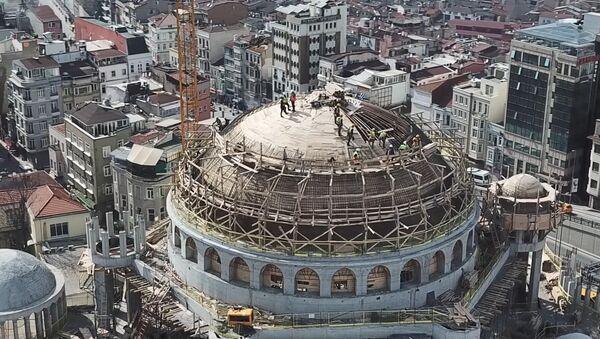 Taksim Camisi'nin kaba inşaatının yüzde 85'i tamamlandı - Sputnik Türkiye