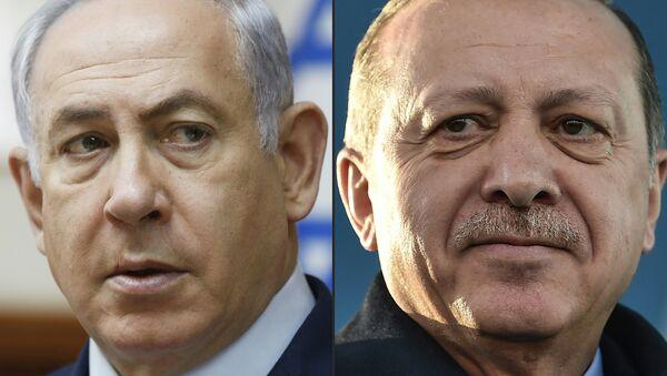 İsrail Başbakanı Benyamin Netanyahu-Cumhurbaşkanı Recep Tayyip Erdoğan - Sputnik Türkiye