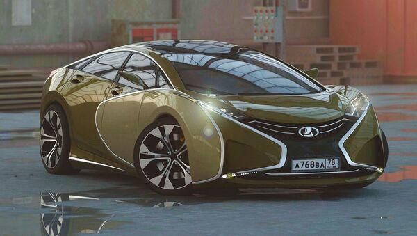 Rus tasarımcı, Lada Questa'nın konsept görüntüsünü yayınladı - Sputnik Türkiye