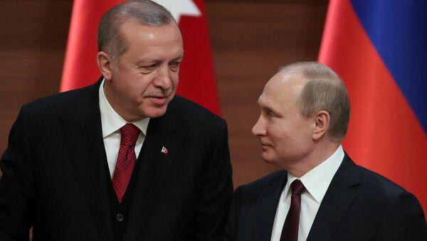 Rusya Devlet Başkanı Vladimir Putin- Cumhurbaşkanı Recep Tayyip Erdoğan - Sputnik Türkiye