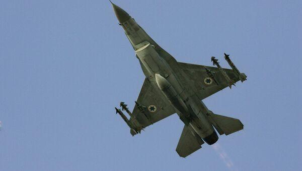 İsrail'e ait bir F-16 savaş uçağı - Sputnik Türkiye