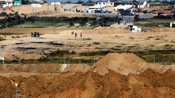 İsrail-Gazze sınırı - Sputnik Türkiye