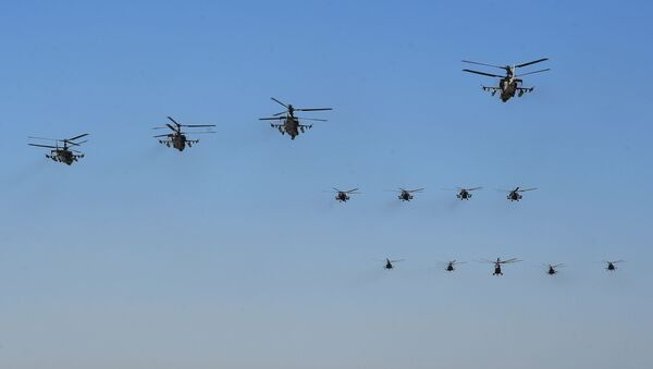 Rusya Hava Kuvvetleri'nin Zafer Günü provası - Sputnik Türkiye