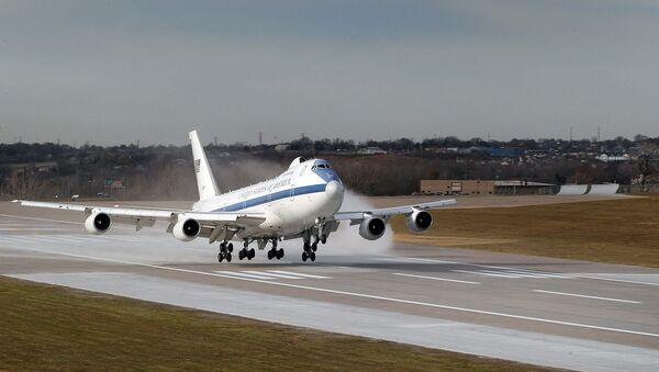 Boeing E-4B landing at Offutt AFB, Nebraska. - Sputnik Türkiye