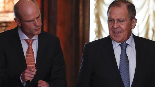 Rusya Dışişleri Bakanı Sergey Lavrov- Hollandalı mevkidaşı Steph Bloch - Sputnik Türkiye