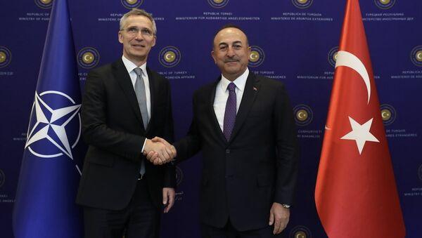 Mevlüt Çavuşoğlu - Jens Stoltenberg  - Sputnik Türkiye