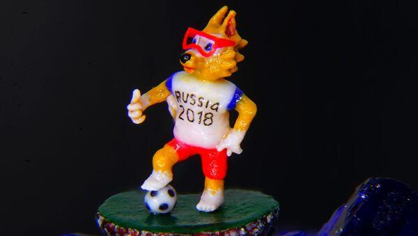 Mikrominyatür ressamı Vladimir Aniskin'den Dünya Kupası maskotu - Sputnik Türkiye