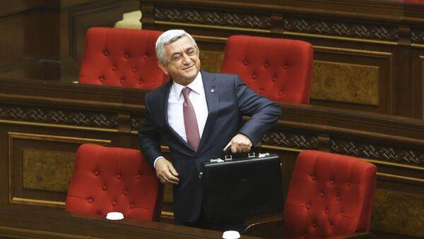 Eski Ermenistan Devlet Başkanı Serj Sarkisyan - Sputnik Türkiye