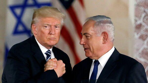 ABD Başkanı Trump ile İsrail Başbakanı Netanyahu, Kudüs, 23 Mayıs 2017 - Sputnik Türkiye