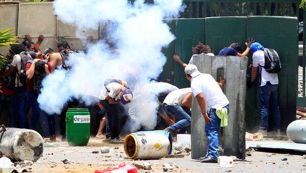 Nikaragua'da emekilik reformuna yönelik protestolardan en az 10 kişinin öldüğü, 88 kişinin yaralandığı haberleri geldi, 19 Nisan 2018 - Sputnik Türkiye