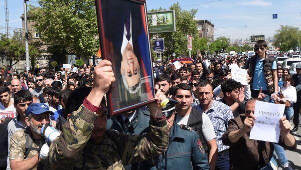 Erivan'daki gösteriler - Sputnik Türkiye