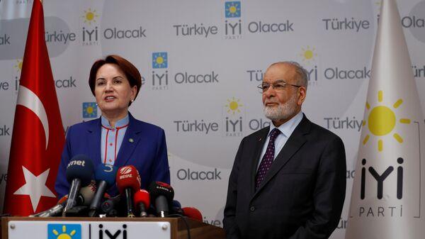 Meral Akşener, Temel Karamollaoğlu - Sputnik Türkiye