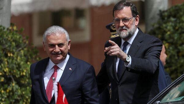 Madrid, Mariano Rajoy, Binali Yıldırım, 24 Nisan 2018 - Sputnik Türkiye