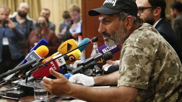 Ermenistan'daki protesto harekatının lideri Nikol Paşinyan - Sputnik Türkiye