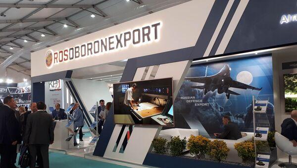 Rusya devlet silah ihracat şirketi Rosoboroneksport standı - Sputnik Türkiye