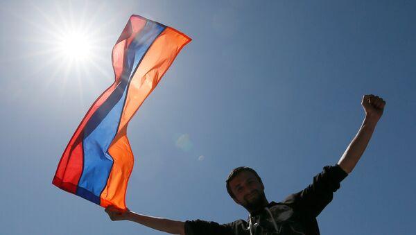 Ermenistan'daki gösteriler - Sputnik Türkiye
