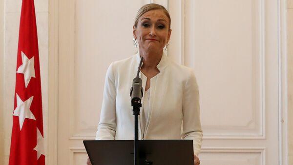 Cristina Cifuentes istifa açıklaması - Sputnik Türkiye