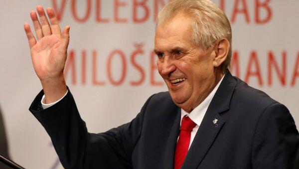 Çekya Devlet Başkanı Milos Zeman - Sputnik Türkiye