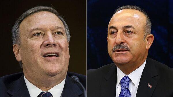 ABD'nin yeni Dışişleri Bakanı Pompeo - Dışişleri Bakanları Toplantısı'nda Dışişleri Bakanı Çavuşoğlu - Sputnik Türkiye