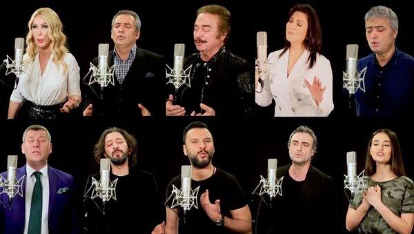 Ünlülerden 'Milletin duası' klibi - Sputnik Türkiye