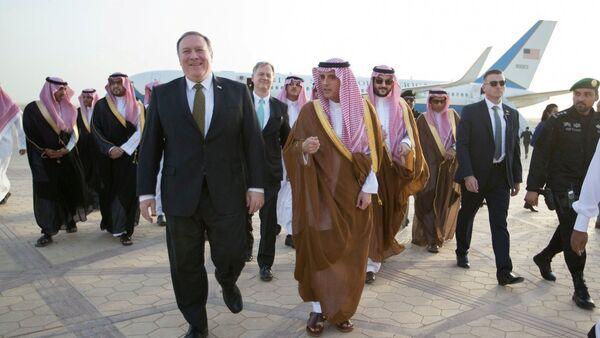 ABD Dışişleri Bakanı Mike Pompeo- Suudi Arabistan Dışişleri Bakanı Adil el Cubeyr - Sputnik Türkiye