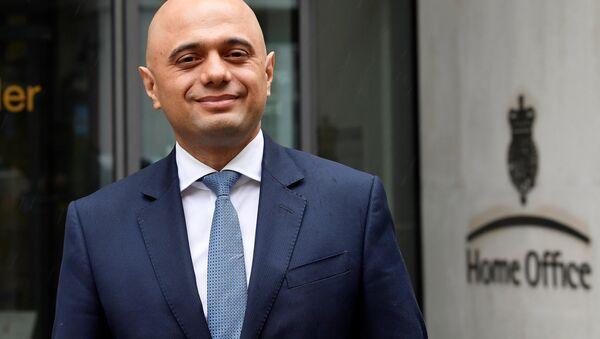 İngiltere'nin yeni İçişleri Bakanı Sajid Javid - Sputnik Türkiye