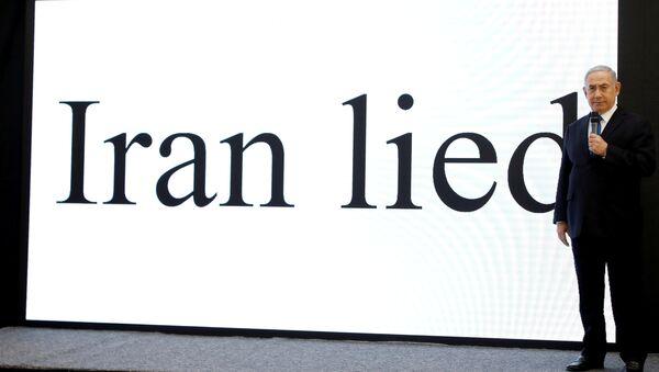 Netanyahu, 'ellerindeki belgelerin İran'ın tüm dünyaya yalan söylediğini kanıtladığı' iddiasında ısrar etti. - Sputnik Türkiye