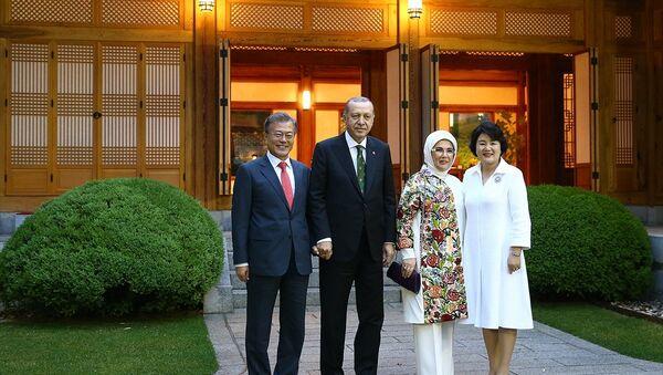 Moon Jae-in - Recep Tayyip Erdoğan - Sputnik Türkiye