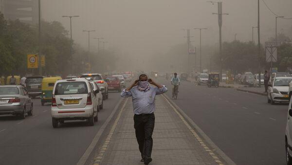 Hindistan-Delhi- kum fırtınası - Sputnik Türkiye