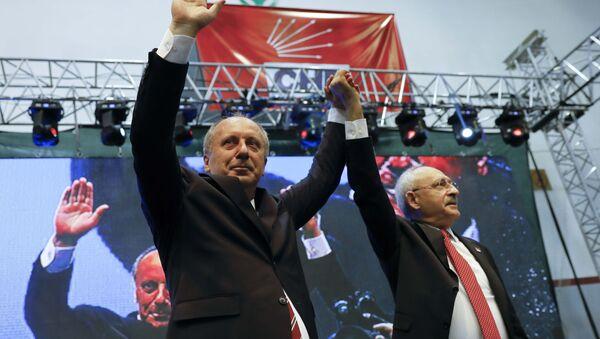 Muharrem İnce, Kemal Kılıçdaroğlu için Kendisini eleştirmiş, karşısında aday olmuş birisini cumhurbaşkanı göstermek her babayiğidin hakkı değildir dedi. - Sputnik Türkiye